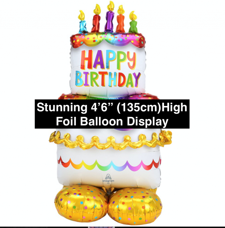 Birthday cake foil display