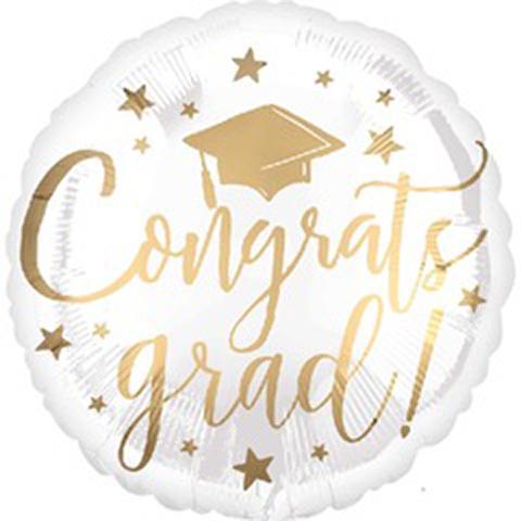 congrats grad! foil balloon