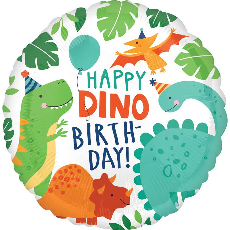 dinosaur foil balloon