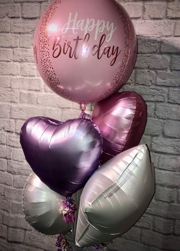 pink balloon selection