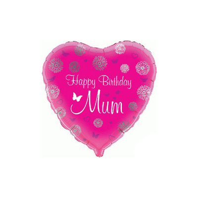 pink heart happy birthday mum