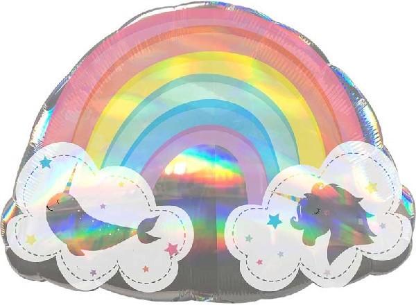 rainbow with unicorns