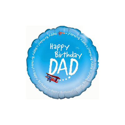 round blue happy birthday dad