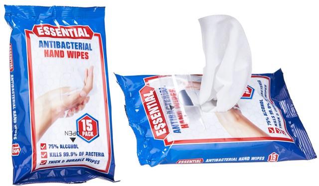 antibacterial wipes