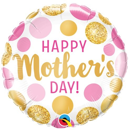 happy mother's day pink and yellow